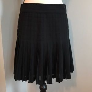 J. Crew never worn black suiting pleated skirt